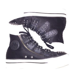 Converse Platform Shoes Black Spike Women Sz 10